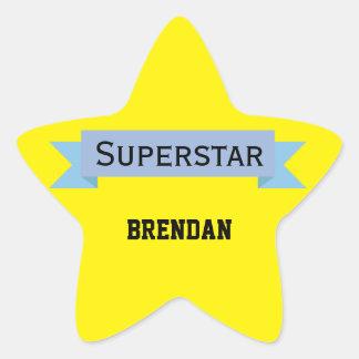 Estrela mundial com nome adesivo estrela