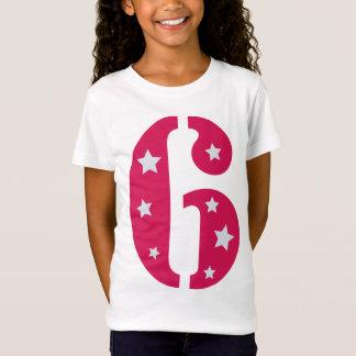 Estrela mundial cor-de-rosa camisa de 6 T