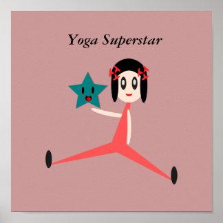 Estrela mundial da ioga pôster