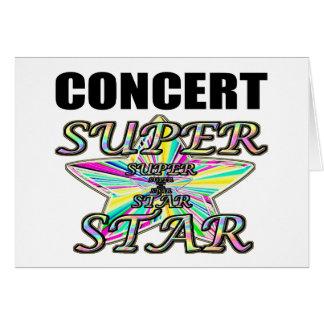 Estrela mundial do concerto cartão comemorativo