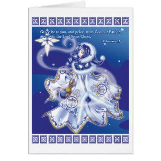 Estrela no cartão silencioso da noite