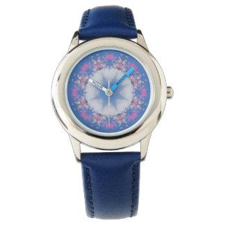 Estrela no relógio do design da mandala das nuvens