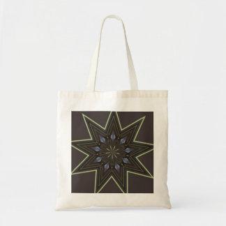 Estrela nove aguçado bolsa tote