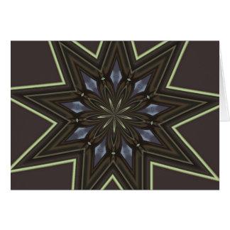 Estrela nove aguçado cartão