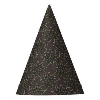 Estrela nove aguçado chapéu de festa