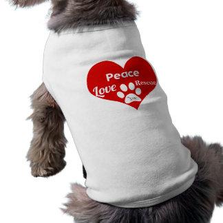 ESTRELA - paz, amor, tanque do salvamento Camisa Sem Mangas Para Cachorro