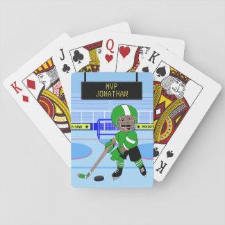 Estrela personalizada bonito do hóquei em gelo cartas de baralho