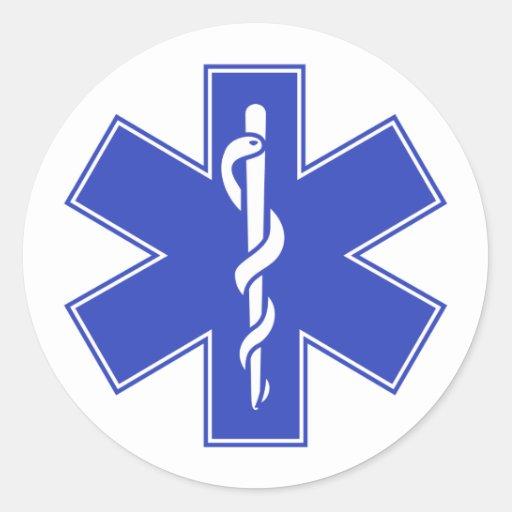 Estrela quente do EMS da enfermeira do bebê Adesivos Redondos