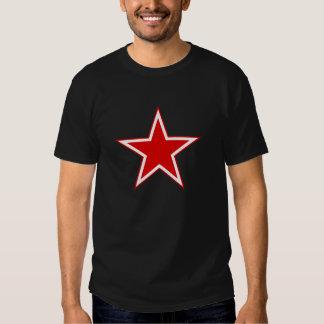 Estrela soviética do vermelho da aviação tshirts