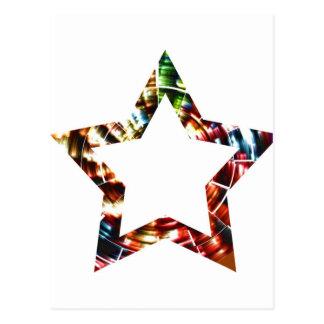 Estrela V5 - Série cósmica vermelha Sparkling Cartão Postal