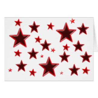Estrela vermelha cartão comemorativo