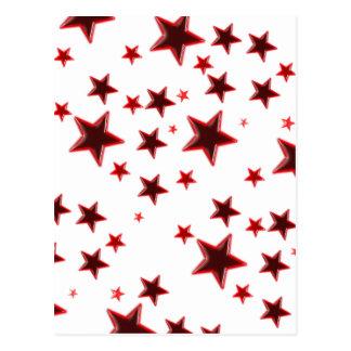 Estrela vermelha cartão postal