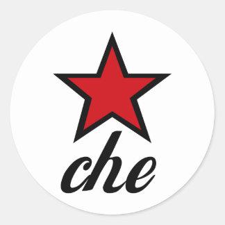 Estrela vermelha Che Guevara! Adesivo Em Formato Redondo