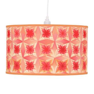 Estrelas abstratas da aguarela, laranja coral e luminária de teto