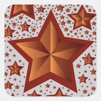 Estrelas Adesivo Quadrado