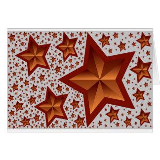estrelas cartão de nota