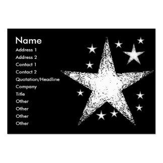 Estrelas   modelo cartoes de visita