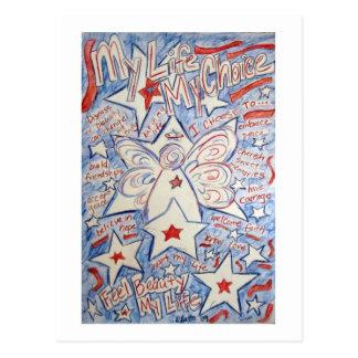 Estrelas & cartão do anjo das listras