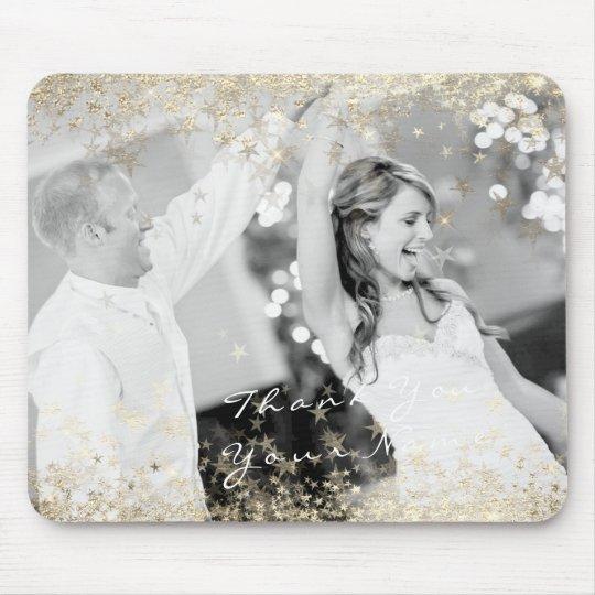 Estrelas conhecidas do ouro da foto que Wedding o Mouse Pad
