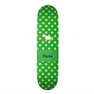 Estrelas conhecidas personalizadas do unicórnio do shape de skate 20cm