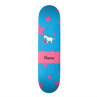 Estrelas conhecidas personalizadas do unicórnio do skate