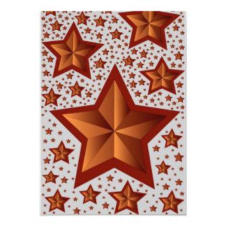 Estrelas Convite 12.7 X 17.78cm