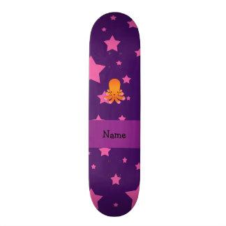 Estrelas cor-de-rosa roxas personalizadas do polvo skate