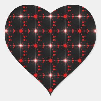 Estrelas cósmicas adesivo coração