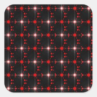 Estrelas cósmicas adesivo quadrado