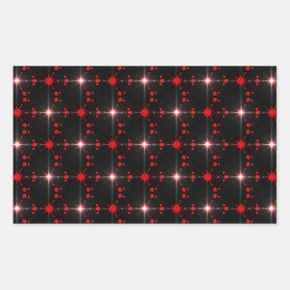 Estrelas cósmicas adesivo retangular