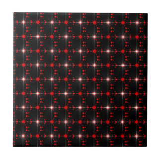 Estrelas cósmicas azulejo quadrado pequeno