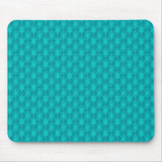 Estrelas da cerceta de turquesa mouse pad