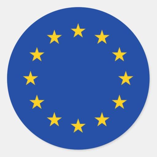 Estrelas da União Europeia Adesivos Redondos