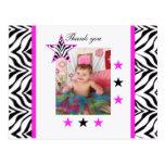 Estrelas da zebra: Imagem: Obrigado cartão Cartoes Postais
