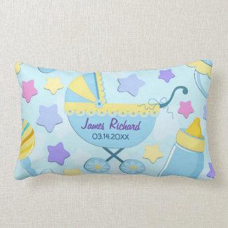 Estrelas de azuis bebés e travesseiro da lembrança almofada lombar