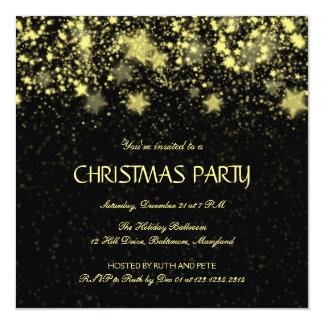 Estrelas de brilho da festa de Natal bonita Convite Quadrado 13.35 X 13.35cm