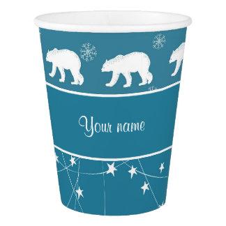 Estrelas de cintilação dos ursos polares copo de papel