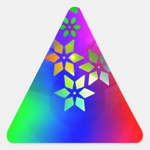 estrelas de COM do abstrato do padrão Adesivo Em Forma De Triângulo