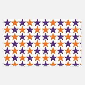 estrelas de COM do padrão Adesivo Retangular