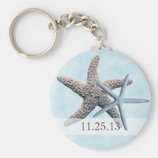 Estrelas de mar que Wedding o chaveiro do favor