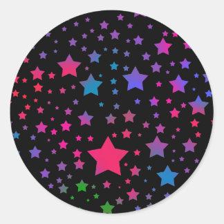 Estrelas de néon adesivo