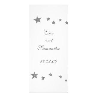 Estrelas de prata, cartões do menu planfeto informativo colorido
