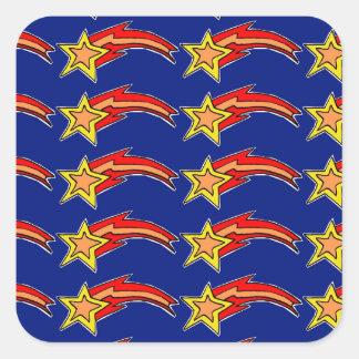 estrelas de tiro adesivo quadrado