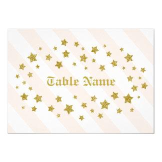 Estrelas do brilho do nome da mesa convite 12.7 x 17.78cm