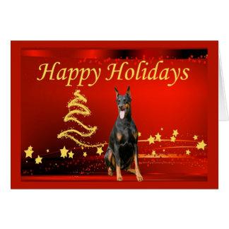 Estrelas do cartão de Natal do Pinscher do