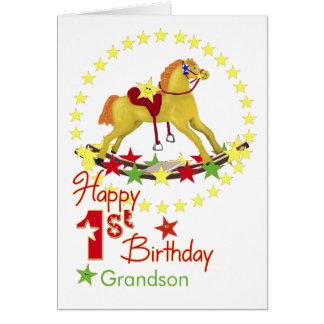 Estrelas do cavalo de balanço do primeiro cartão comemorativo