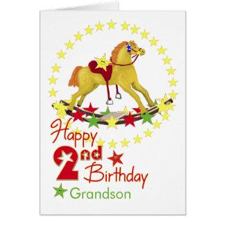 Estrelas do cavalo de balanço do segundo cartão comemorativo