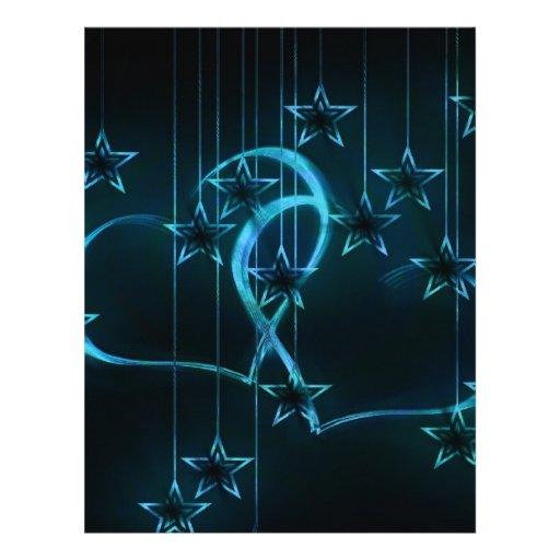 Estrelas do destino da festa de aniversário do chá papeis de carta personalizados