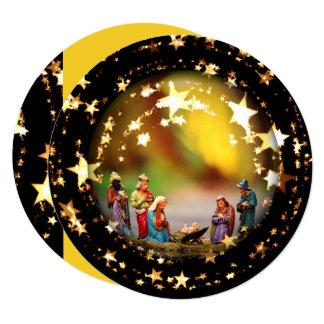 Estrelas do Natal de Jesus da Virgem Maria da ucha Convite Quadrado 13.35 X 13.35cm