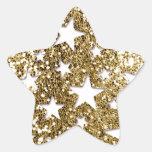 Estrelas do olhar do brilho do ouro adesivos estrelas